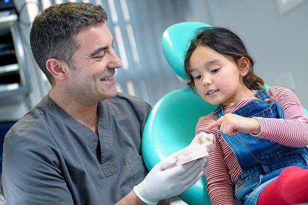 Dentist Julian Beamish providing children's dentistry at Elmet Dental Care